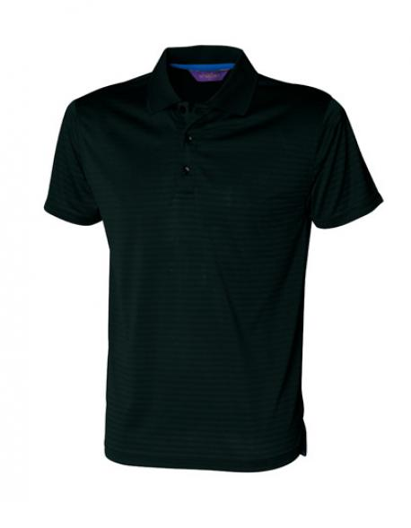 Cooltouch Textured Stripe Sport Poloshirt + Cooltouch