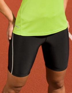 Damen Bodyfit Sport Shorts + Atmungsaktiv