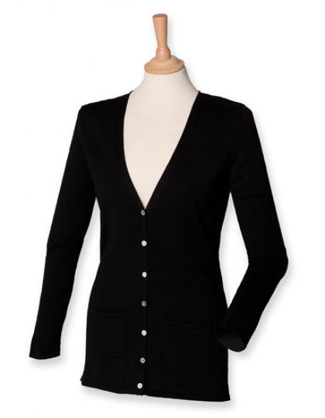 Ladies V Button Cardigan