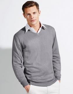 Mens V Neck Sweater Galaxy