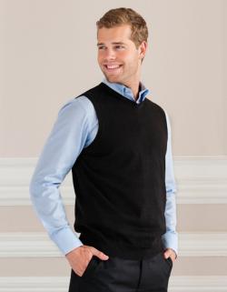 Men s V-Neck Sleeveless Knitted Pullover